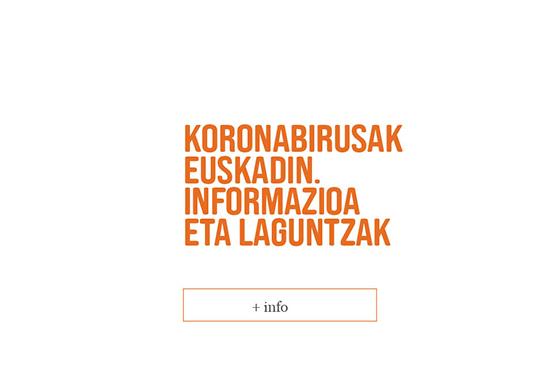 Información y recomendaciones sobre el coronavirus en Euskadi