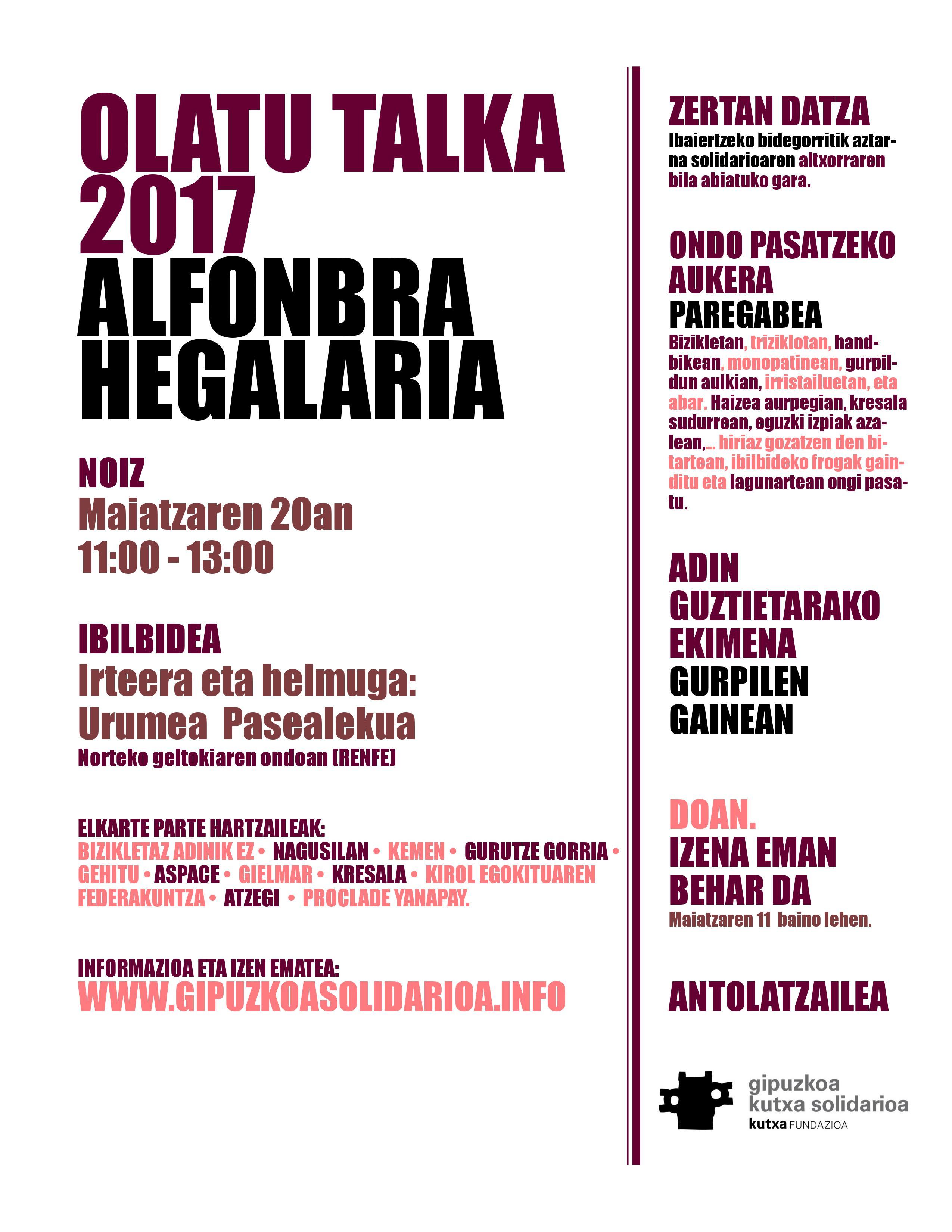 ALFOMBRA HEGALARIA web eus